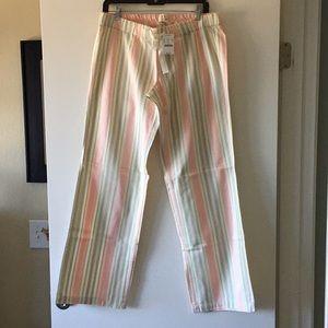 J. Crew new pajama pants size small